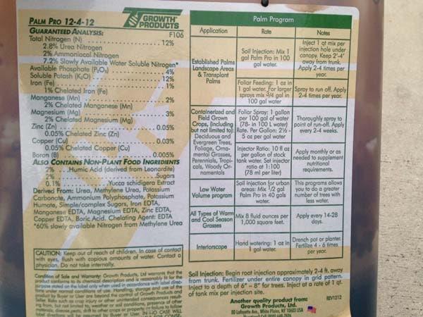 Fertilizer Label