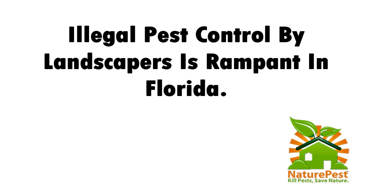 Illegal Pest Control By Landscapers Is Rampant In Florida.